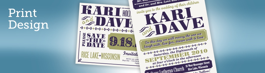 Kari & Dave's Wedding Invitations