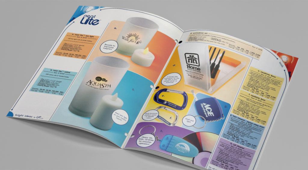 Catalog inside spread