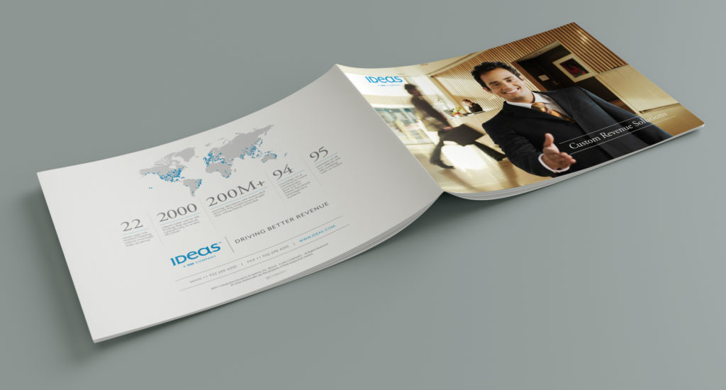 Outside spread of the brochure design