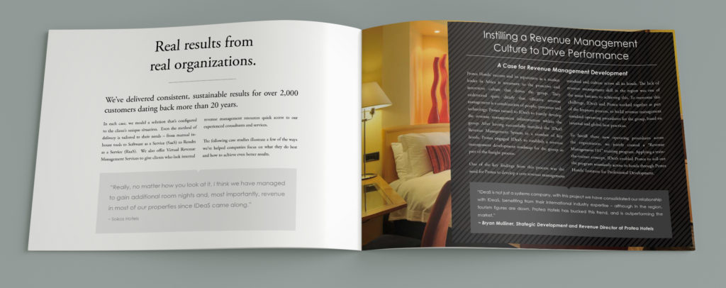 Another inside spread of the brochure design