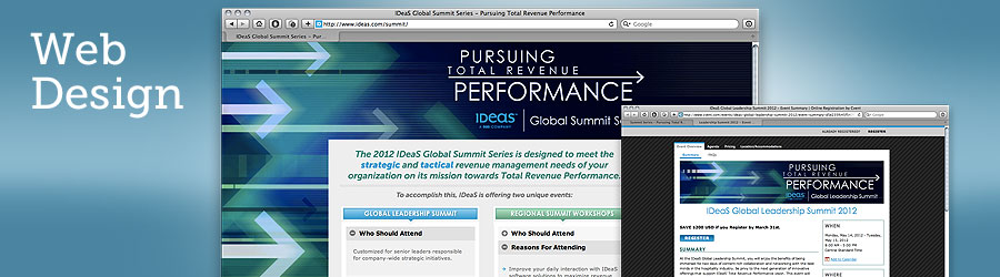 Global Corporate Client Event Web Site Design
