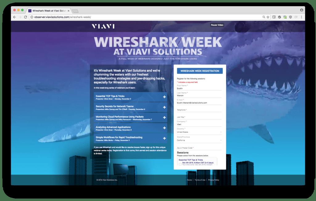 Screenshot of microsite key visual and background video work
