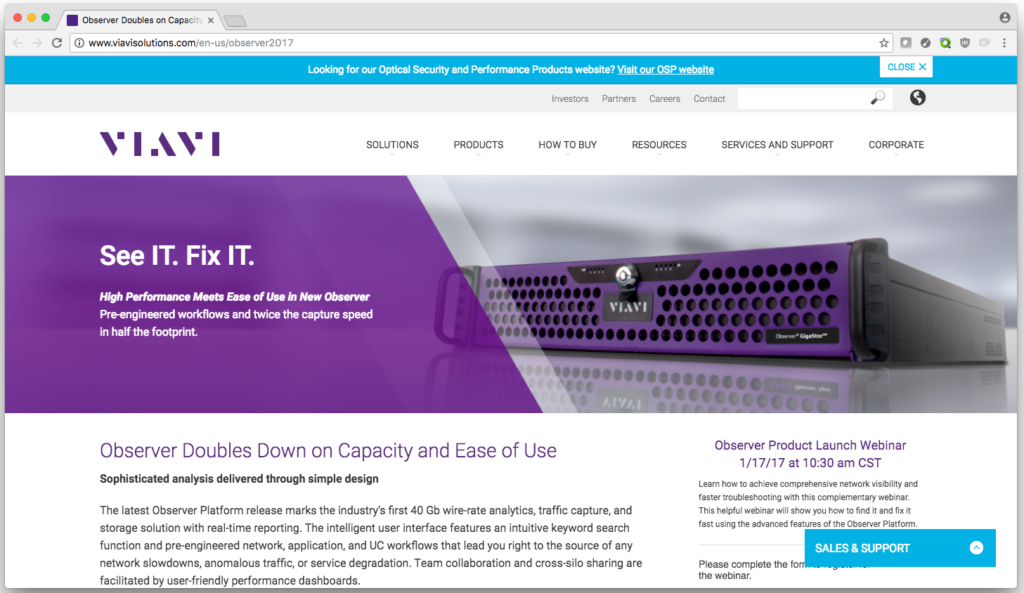 Website banner image for corporate homepage