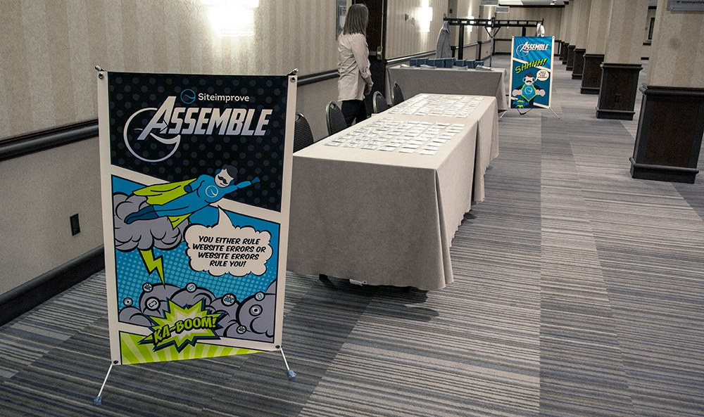 Photo of banners at Sales Meeting
