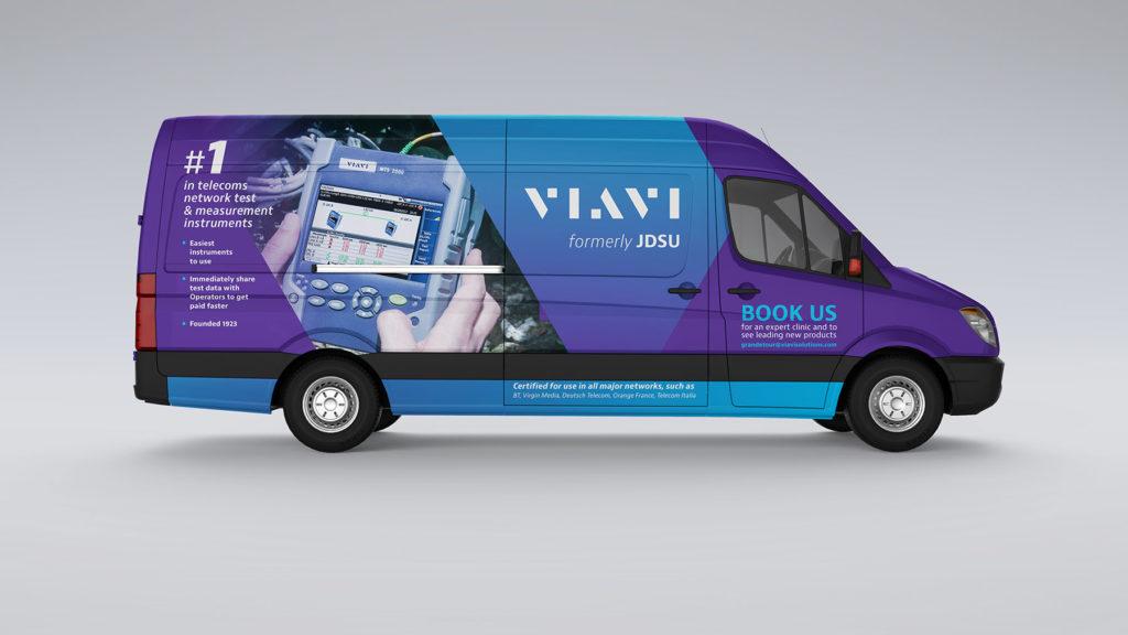 Passenger side of van